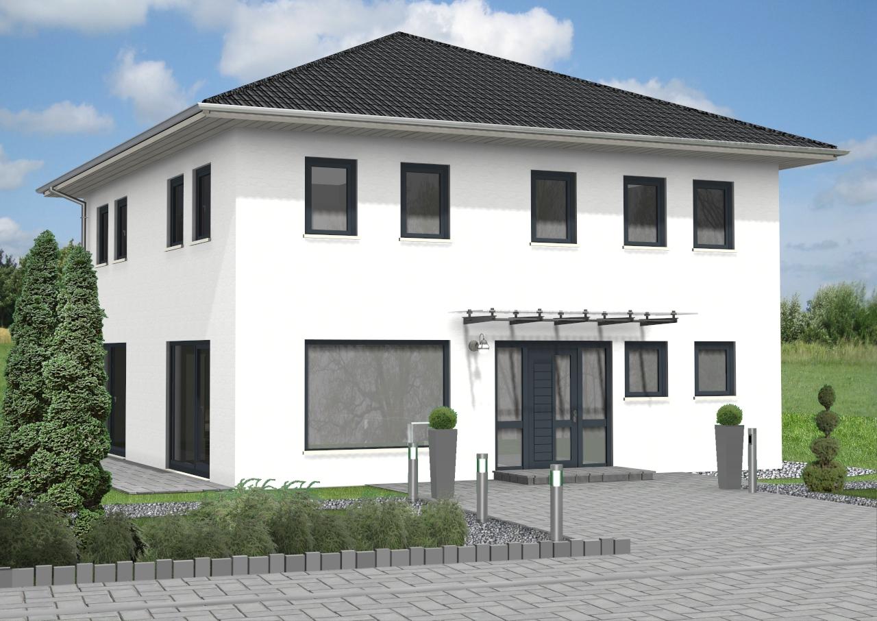 Massivhaus des Monats November 2020 ab 283.900,00 Euro. Stadtvilla mit ca. 162 m² Wohnfläche.